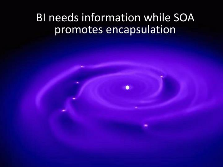 BI needs information while SOA
