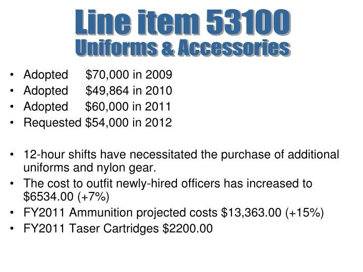 Line item 53100