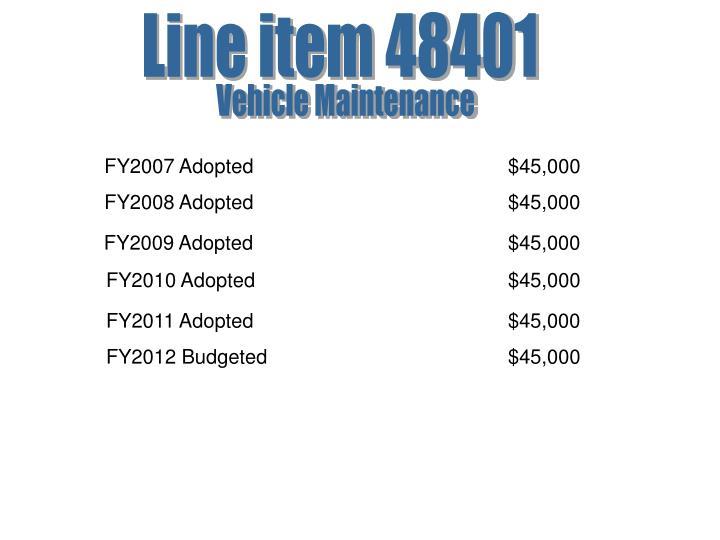 Line item 48401