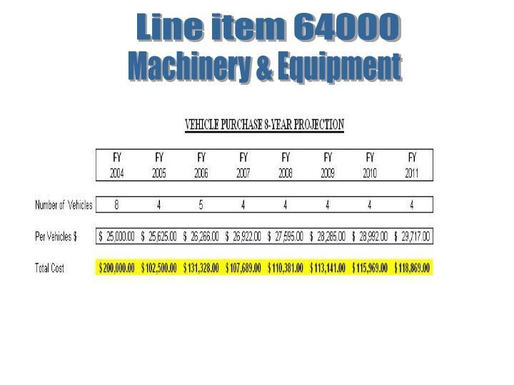 Line item 64000