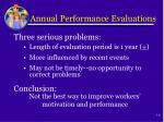 annual performance evaluations