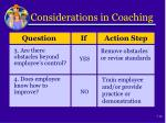 considerations in coaching1