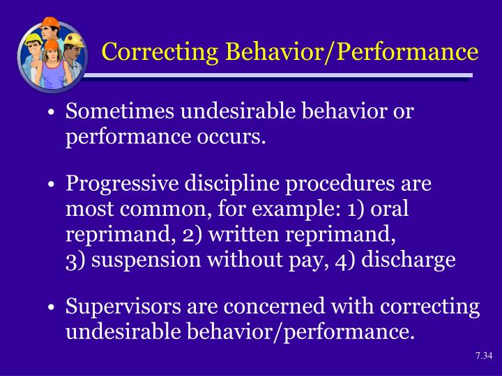 Correcting Behavior/Performance
