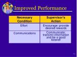 improved performance1