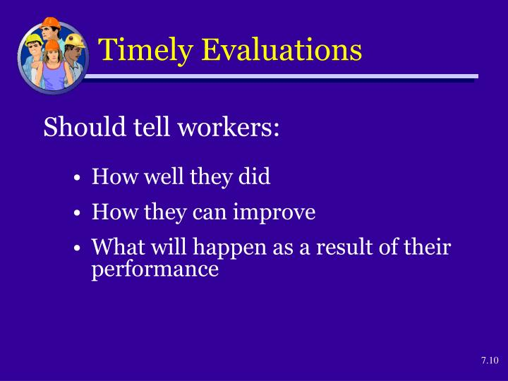 Timely Evaluations