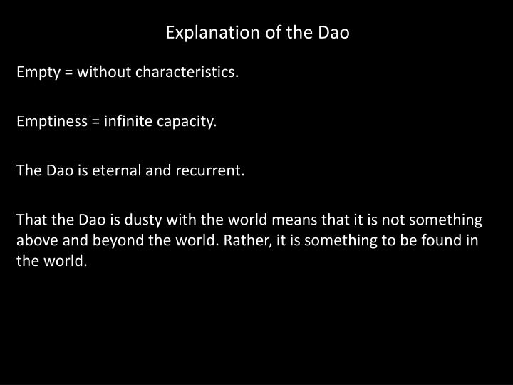 Explanation of the Dao