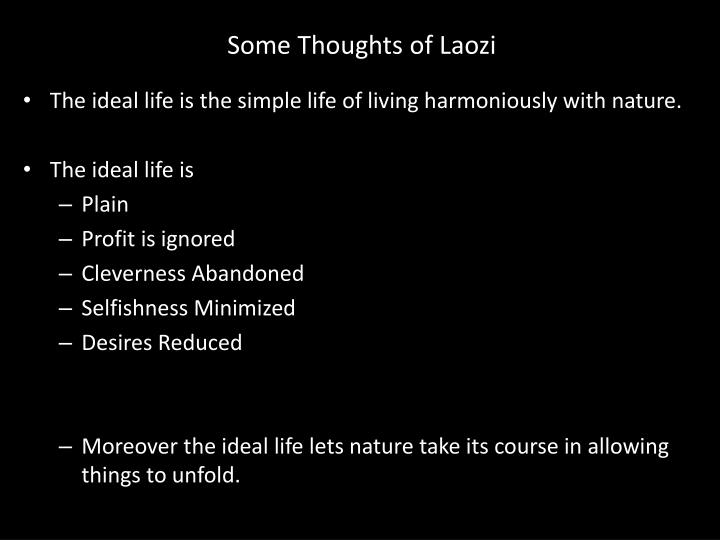 Some Thoughts of Laozi