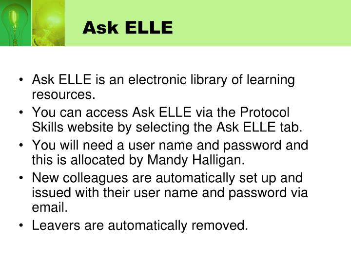 Ask ELLE