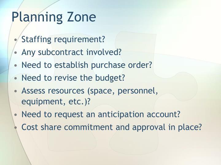 Planning Zone
