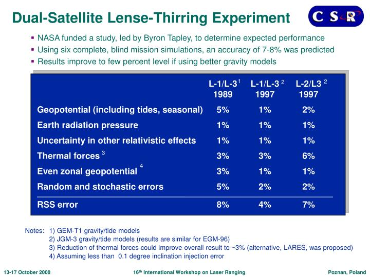 Dual-Satellite Lense-Thirring Experiment