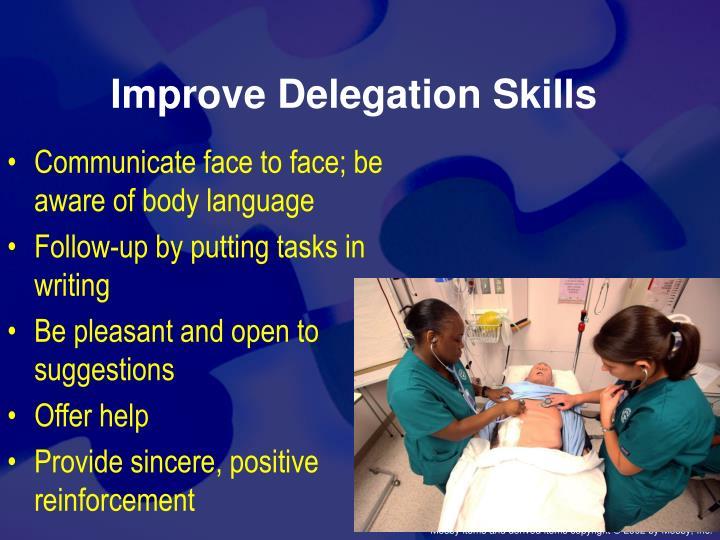 Improve Delegation Skills