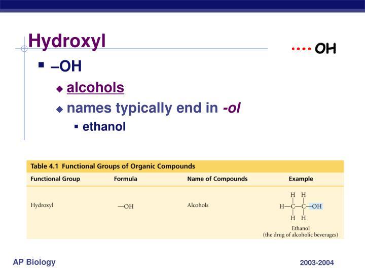Hydroxyl