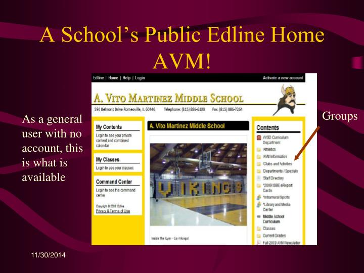 A School's Public Edline Home AVM!