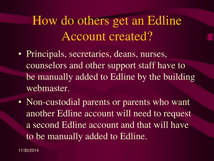 How do others get an Edline Account created?