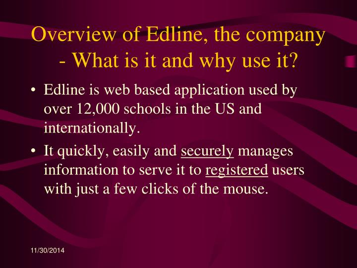 Overview of Edline, the company - What is it and why use it?