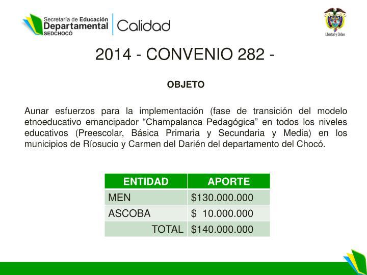 2014 - CONVENIO
