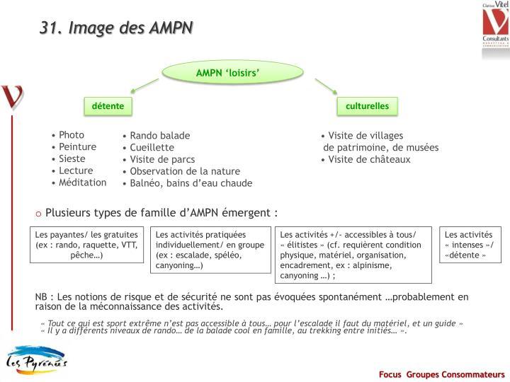 31. Image des AMPN