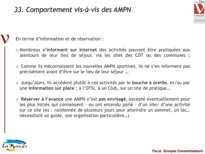 33. Comportement vis-à-vis des AMPN