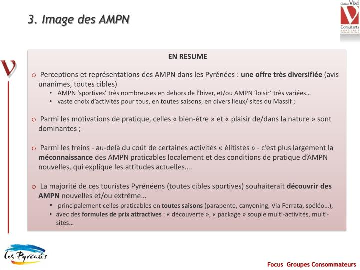 3. Image des AMPN