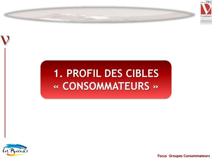 1. PROFIL DES CIBLES «CONSOMMATEURS»
