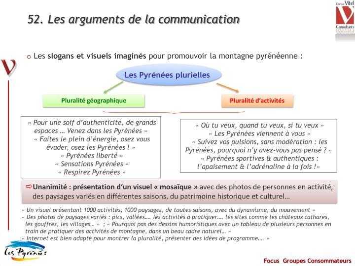 52. Les arguments de la communication