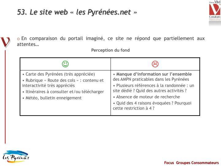 53. Le site web «les Pyrénées.net»