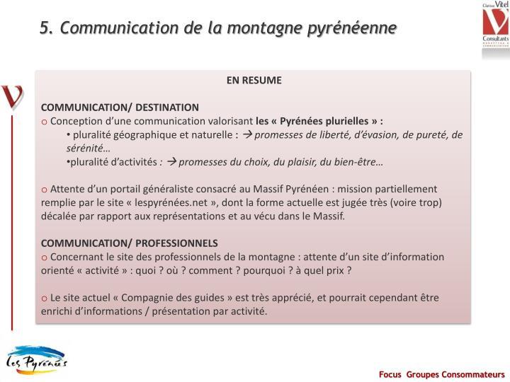 5. Communication de la montagne pyrénéenne