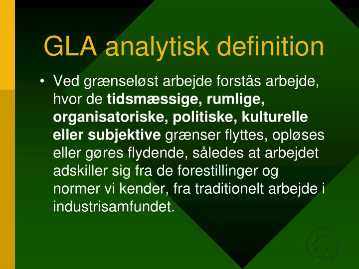 GLA analytisk definition