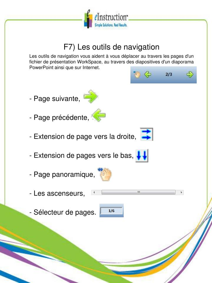 F7) Les outils de navigation