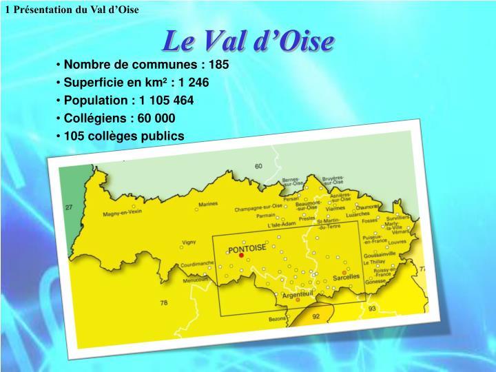 1 Présentation du Val d'Oise