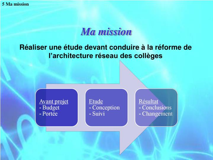 5 Ma mission