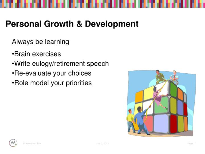 Personal Growth & Development