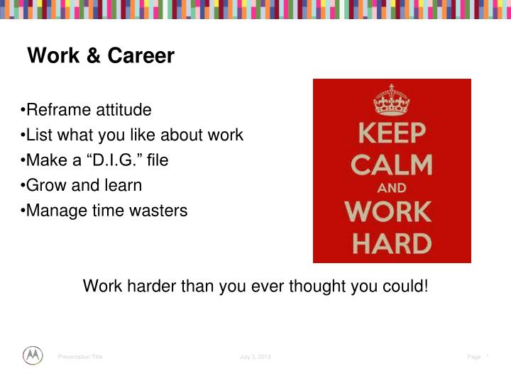 Work & Career