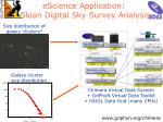 escience application sloan digital sky survey analysis