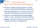 grid evolution open grid services architecture