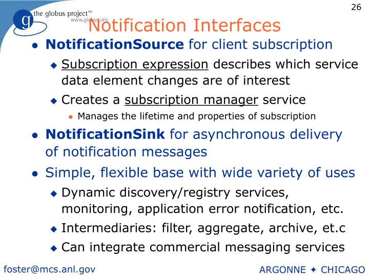 Notification Interfaces