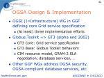 ogsa design implementation