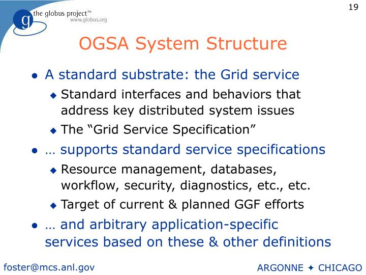 OGSA System Structure