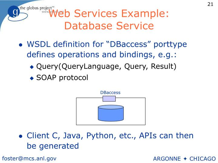 Web Services Example: