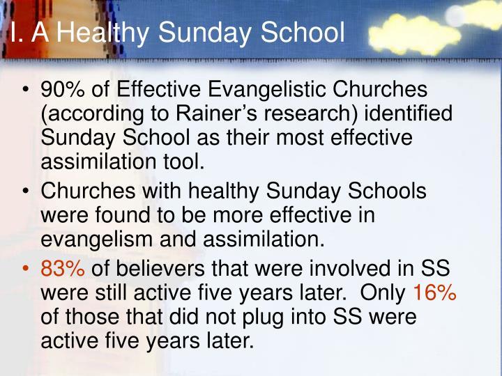 I. A Healthy Sunday School