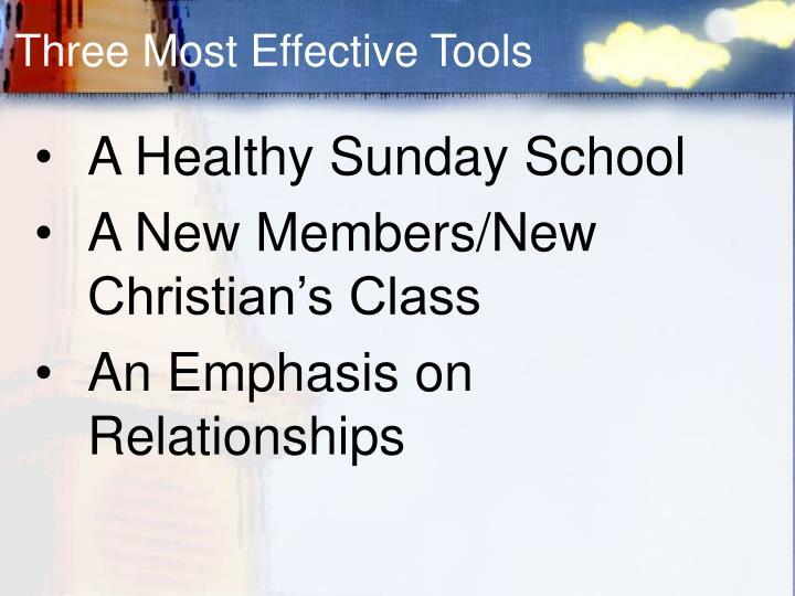 Three Most Effective Tools