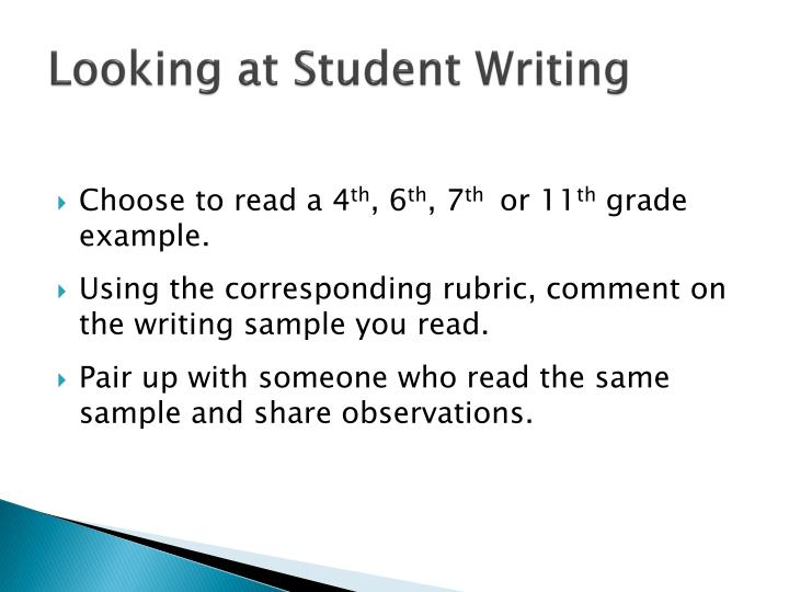Looking at Student Writing