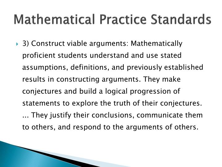 Mathematical Practice Standards