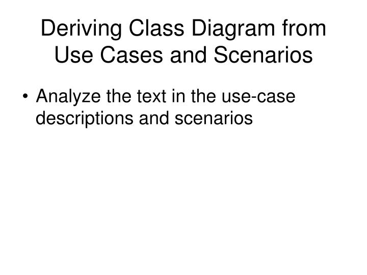Deriving Class Diagram from