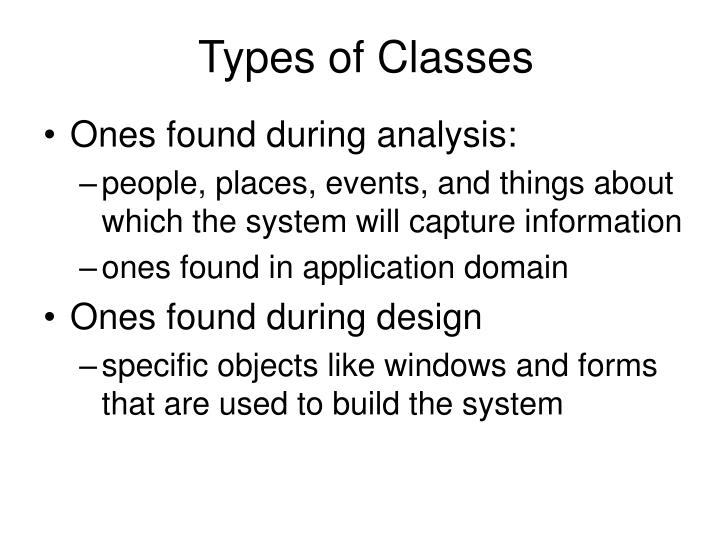 Types of Classes