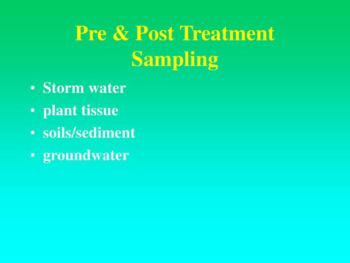 Pre & Post Treatment Sampling