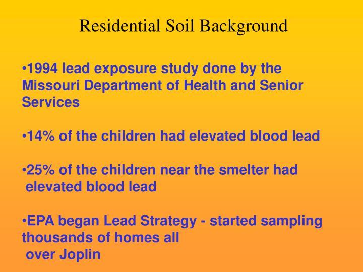 Residential Soil Background