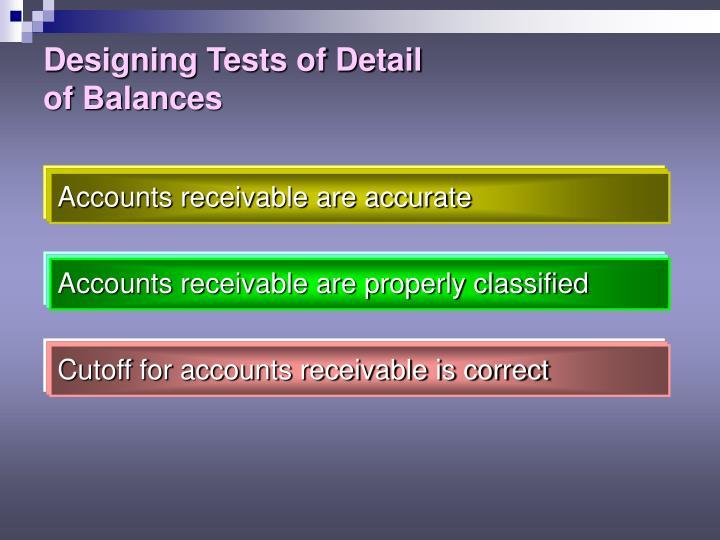 Designing Tests of Detail