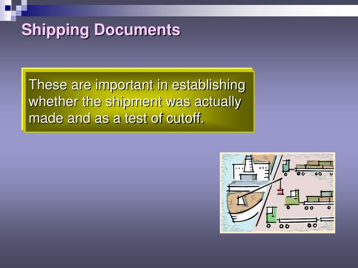 Shipping Documents