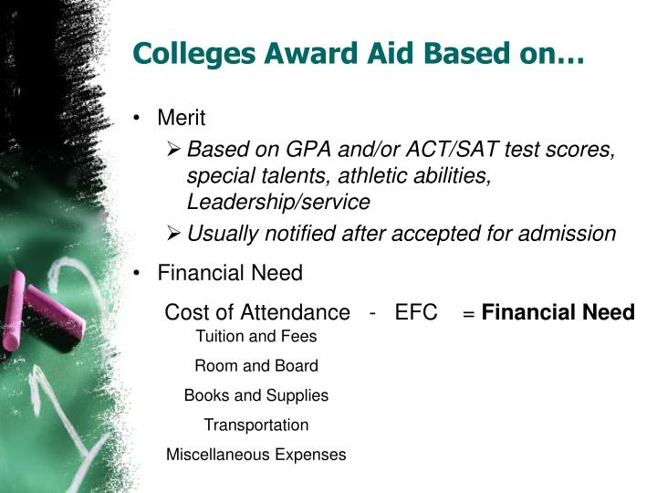 Colleges Award Aid Based on…